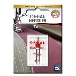 Aiguille 130/705HZ Double  80 écartement 4 / 1 pcs ORGAN