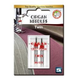 Aiguille 130/705HZ Double 80 écartement 2,5 / 2 pcs ORGAN