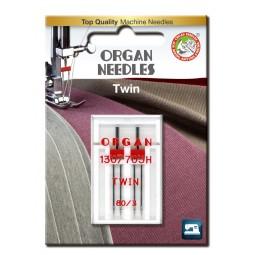 Aiguille 130/705HZ Double 80 écartement 3 / 2 pcs ORGAN