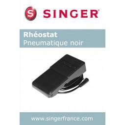 Rhéostat pneumatique noir petit sous blister Singer réf 55/85/1002.B