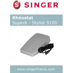 Rhéostat Stylist 9100 sous blister Singer réf 55/85/1011.B