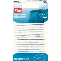Elastique fronceur blanc 25 mm Cond