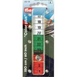 Metre - Ruban  150 Cm Color Plus Avec Pression  Cm/Cm  PRYM Réf 282118