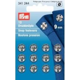 Boutons Pression A Coudre  9 Mm Laiton Argente PRYM Réf 341244