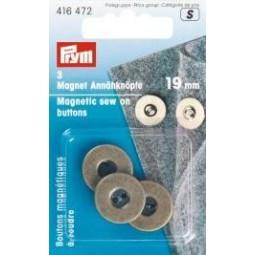 Boutons Magnetiques A Coudre 19 Mm Laiton Antique PRYM Réf 416472
