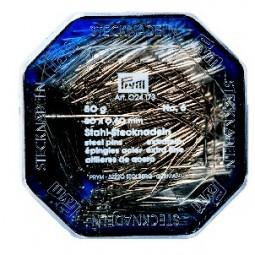 Epingles  A Piquer N°6 Acier Argente  0,60X30 Mm