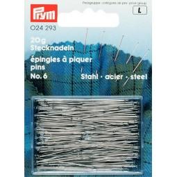 Epingles  A Piquer N°6 Acier Argente  0,60 X 30 Mm  Réf 24293