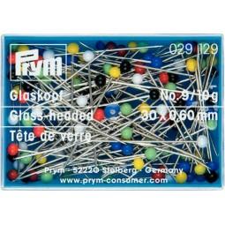 Epingles  Tete  Verre N°9  0,60X30 Mm  Coloris Assortis Réf 29129