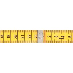 Metre - Ruban 150 Cm Junior  Cm/Cm Rose / Turquoise Plie Avec Clip PRYM Réf 282341