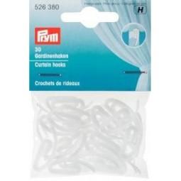 Crochets  De Rideaux Blanc          PRYM Réf 526380