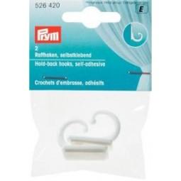 Crochets  D Embrasse Adhesifs Blanc PRYM Réf 526420
