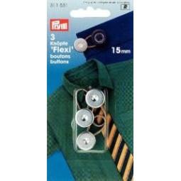 Boutons  Flexi  15 Mm  Pour Chemises Pantalons PRYM Réf 311531