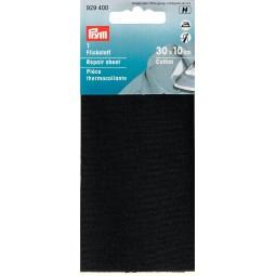 Piece  Thermocollante Coton  30 X 10 Cm Noir PRYM Réf 929400