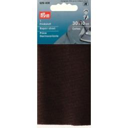 Piece  Thermocollante Coton  30 X 10 Cm Brun PRYM Réf 929406