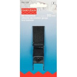 Attache  Soutien-Gorge Protec. La Peau 3-Ferm.   20 Mm Noir PRYM Réf 992023
