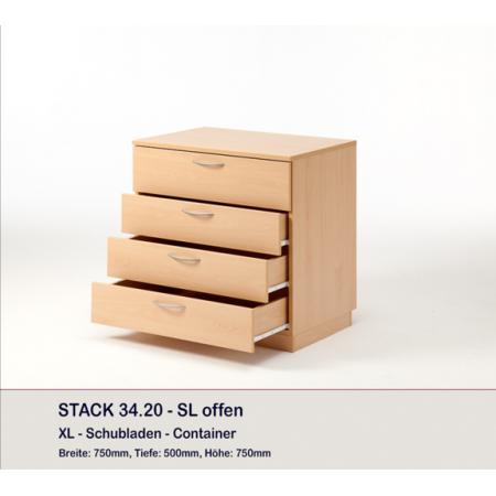 Meuble rangement large 4 tiroirs, STACK
