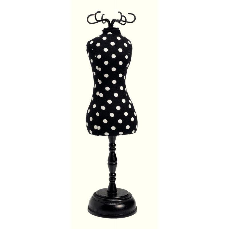 pelote mannequin polka noir blanc  Réf 610319