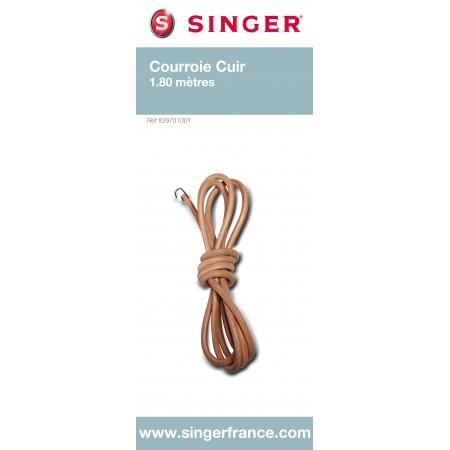 Courroie cuir 1m80 avec crochet sous blister Singer ref 29/75/1001.B