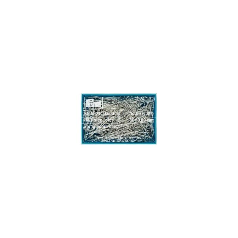 Epingles  A Piquer N°6 Acier Argente  0,60X30 Mm Réf 24292