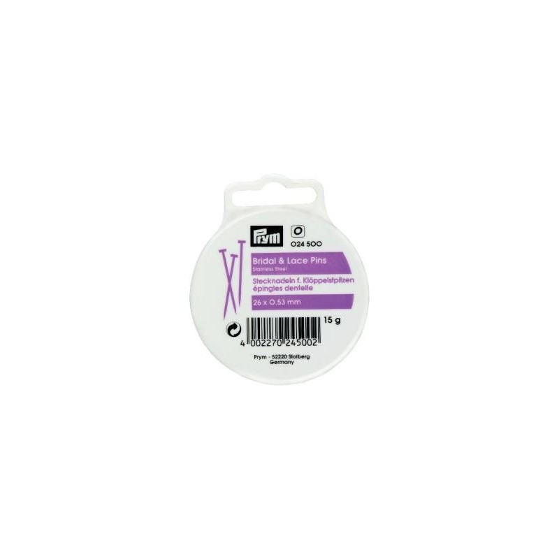 Epingles  A Piquer Dentelle Acier 0,53X26 Mm  Réf 24500