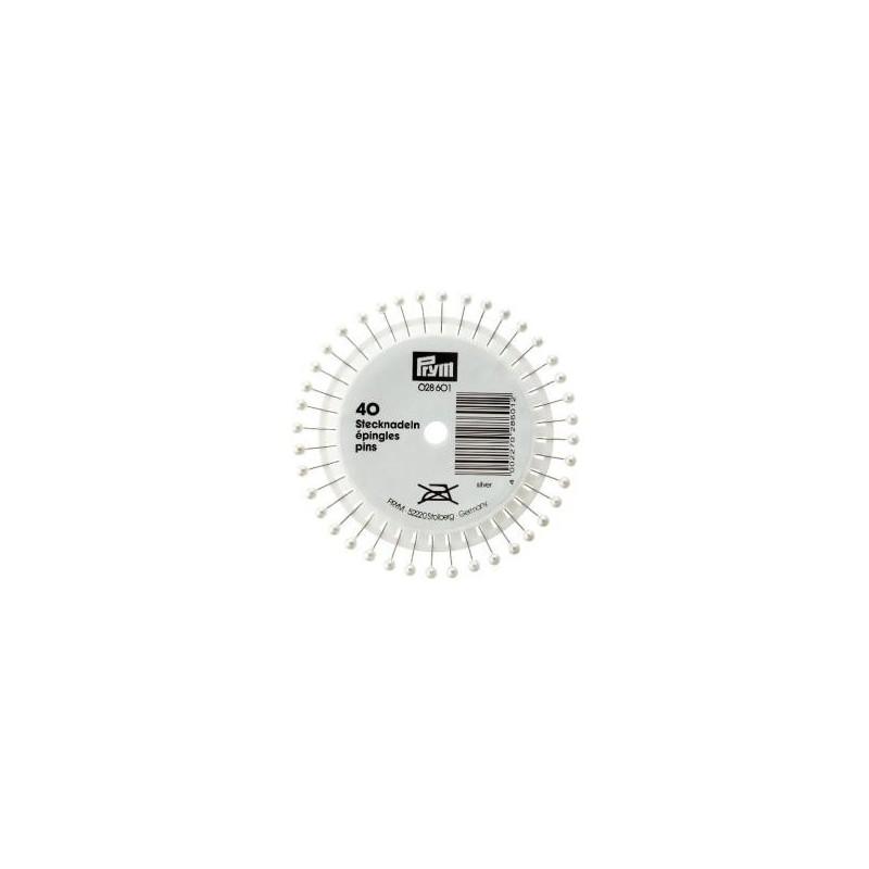 Epingles  Tete Perle Coloris  Nacre   Réf 28601