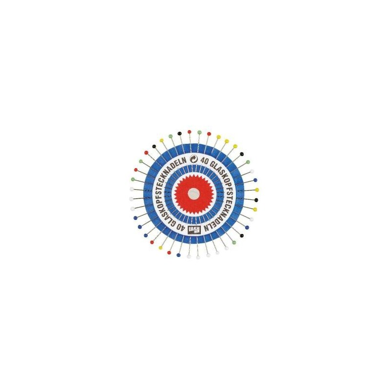 Epingles  Tete Verre N°9  0,60X30 Mm Coloris Assortis  Réf 29139