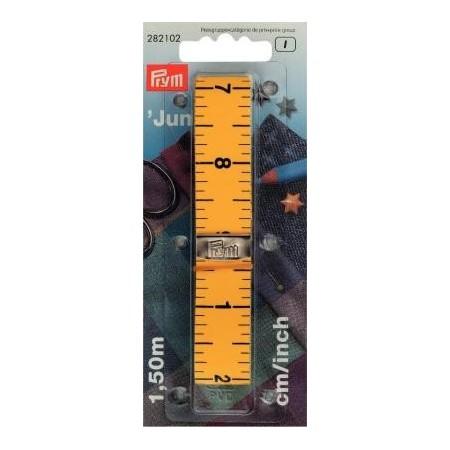 Metre - Ruban  150 Cm Junior Cm/Inch. Rose / Turquoise  PRYM Réf 282102