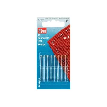 Aiguilles  A Coudre Longues N° 7   0,70X 37 Mm Arg/Or Réf 121291