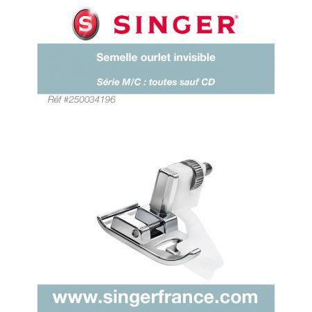 Semelle ourlet invisible clic bas sous blister Singer réf 44/75/1019.B