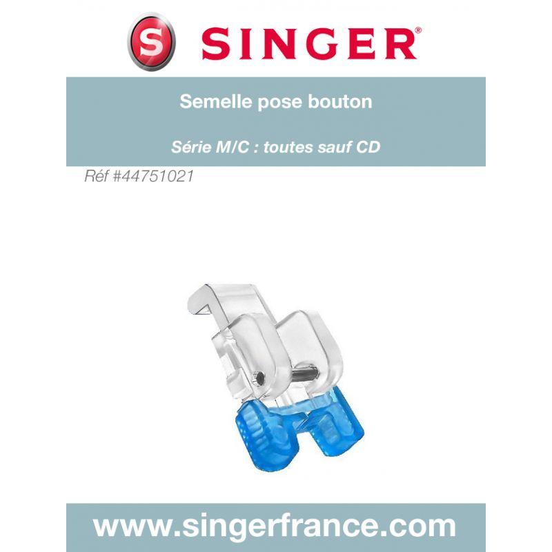 Semelle pose bouton clic bas sous blister Singer réf 44/75/1021.B
