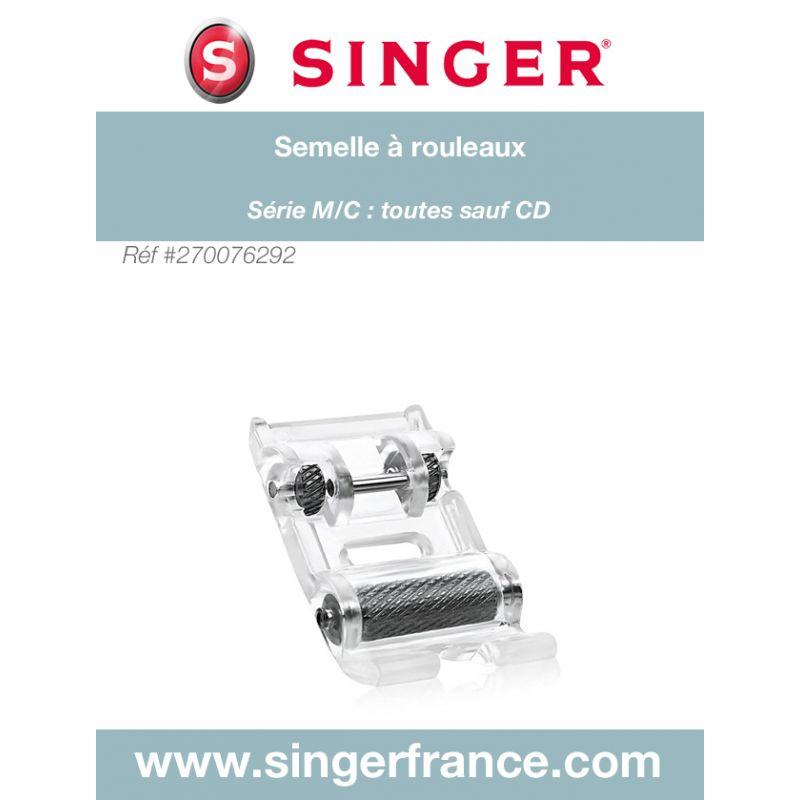 Semelle à rouleau clic bas sous blister Singer réf 44/75/1036.B