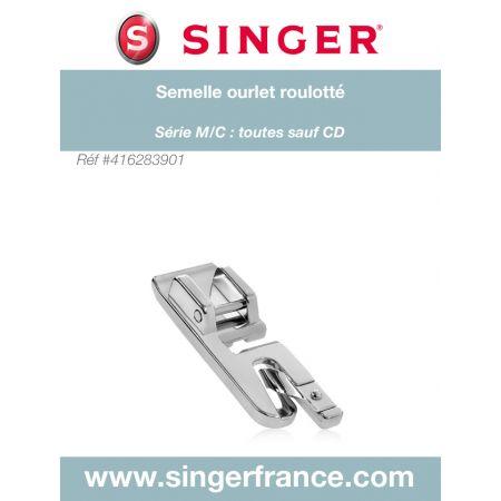 Semelle ourlet roulotté clic bas sous blister Singer réf 44/75/1043.B