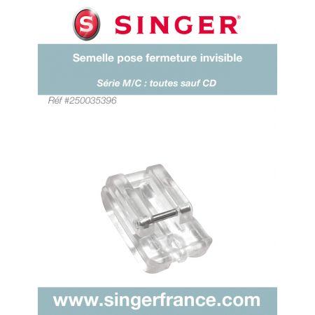 Semelle fermeture à glissière invisible clic bas sous blister Singer 250035396